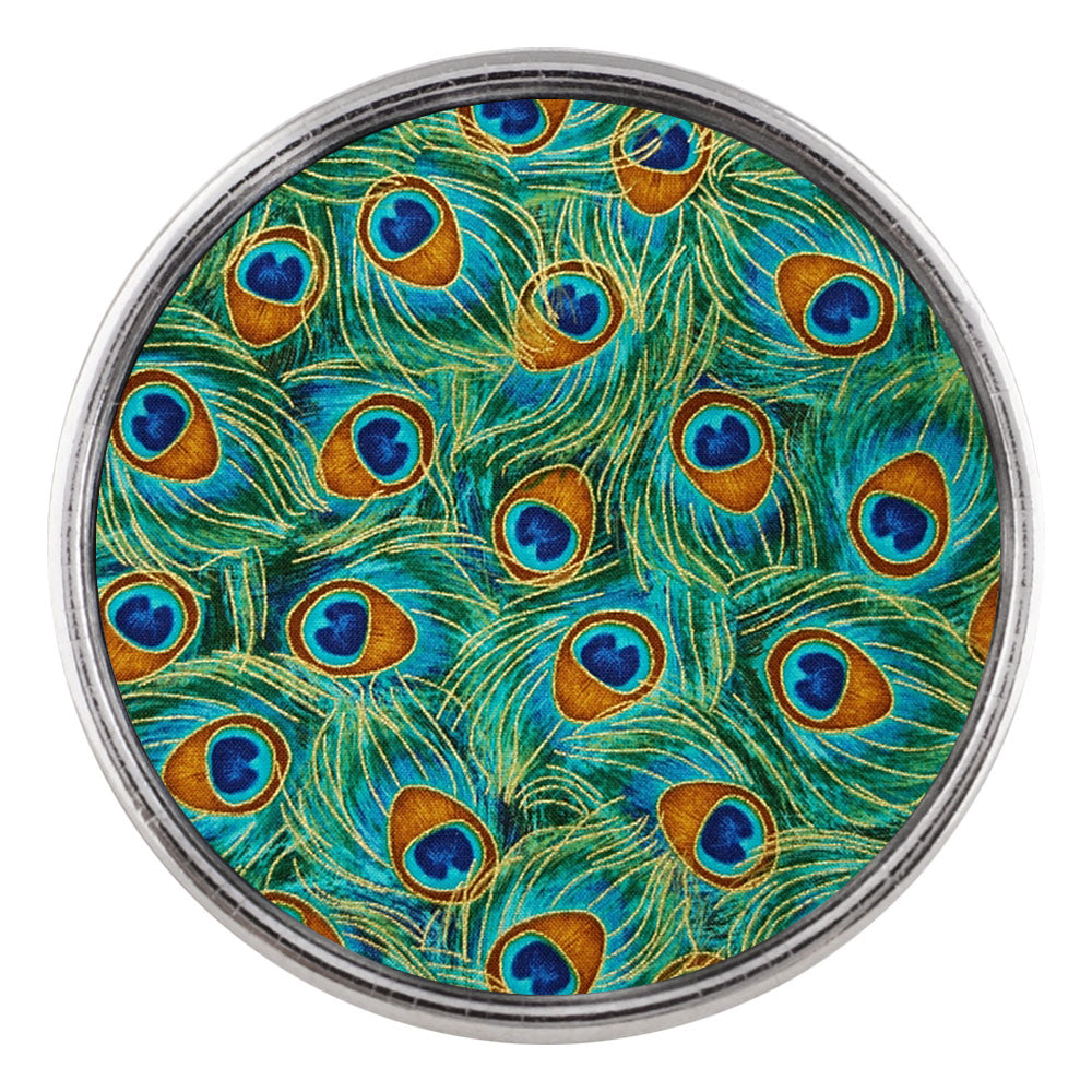 Birds of a Peacock Feather Glass Snap - Gracie Roze
