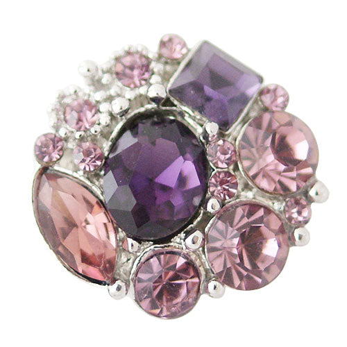 Purple Hepburn Snap - Gracie Roze Yourself Expression Snap Jewelry