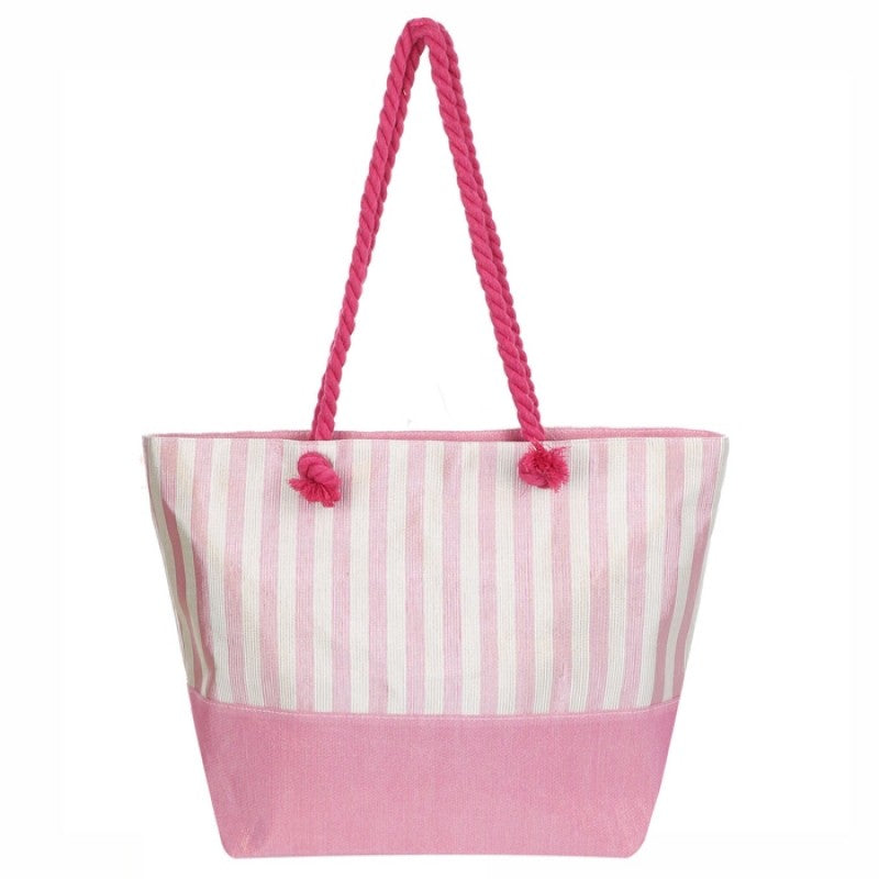 Glitter Woven Ribbed Beach Bag - Gracie Roze