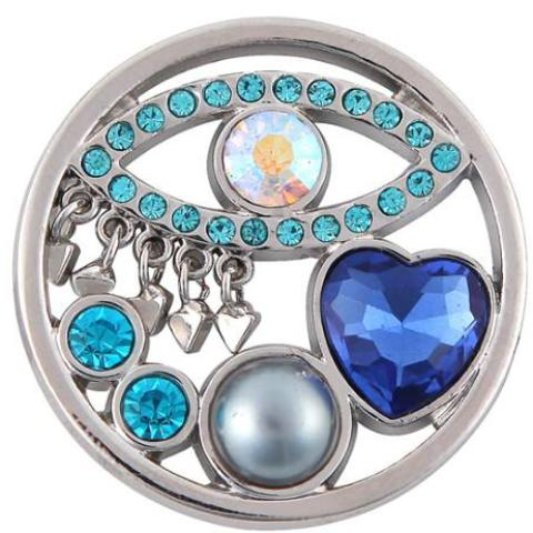 Silver See All Blue Coin - Gracie Roze