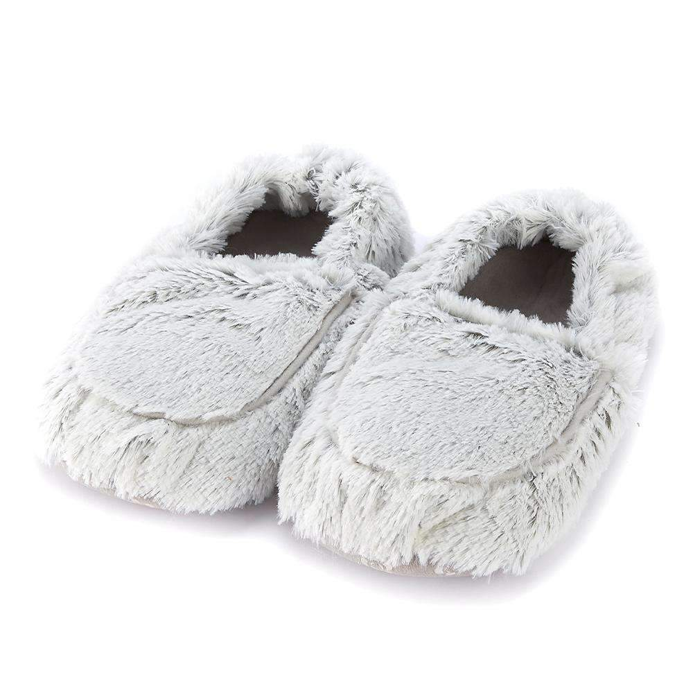 Marshmallow Gray Warmies Slippers - Gracie Roze