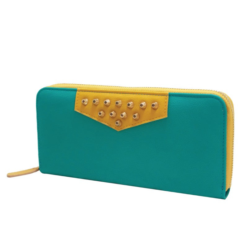 Teal and Yellow Wallet - Gracie Roze