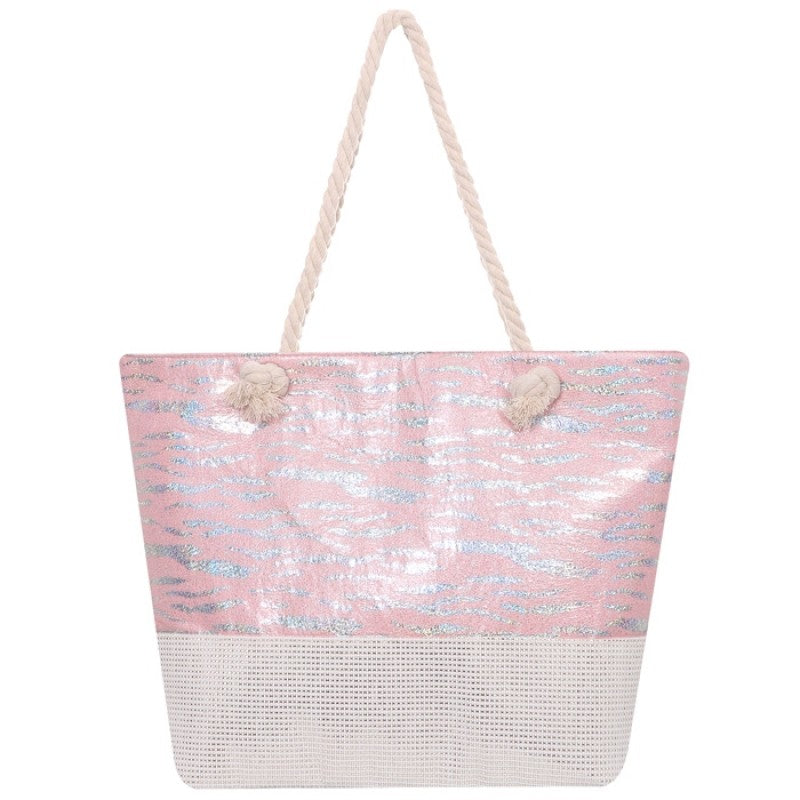 Foiled Beach Bag - Pink - Gracie Roze
