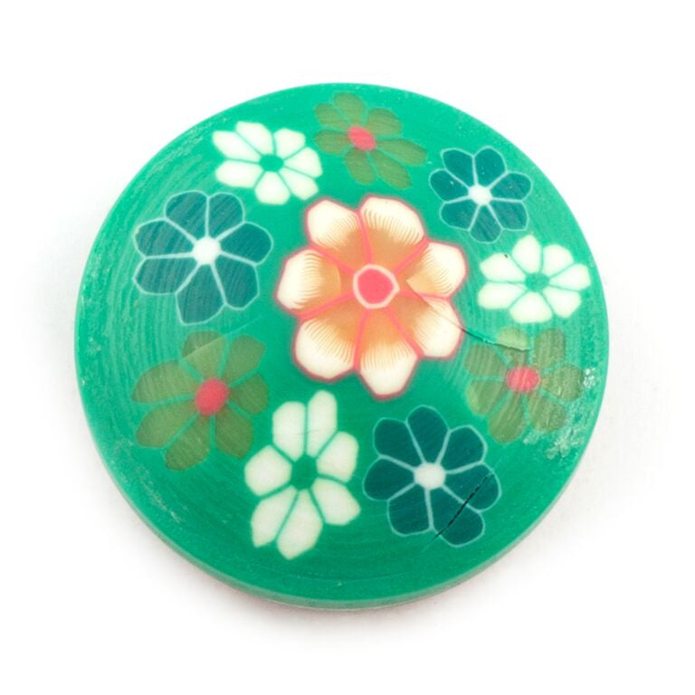 Green Clay Flower Snap - Gracie Roze