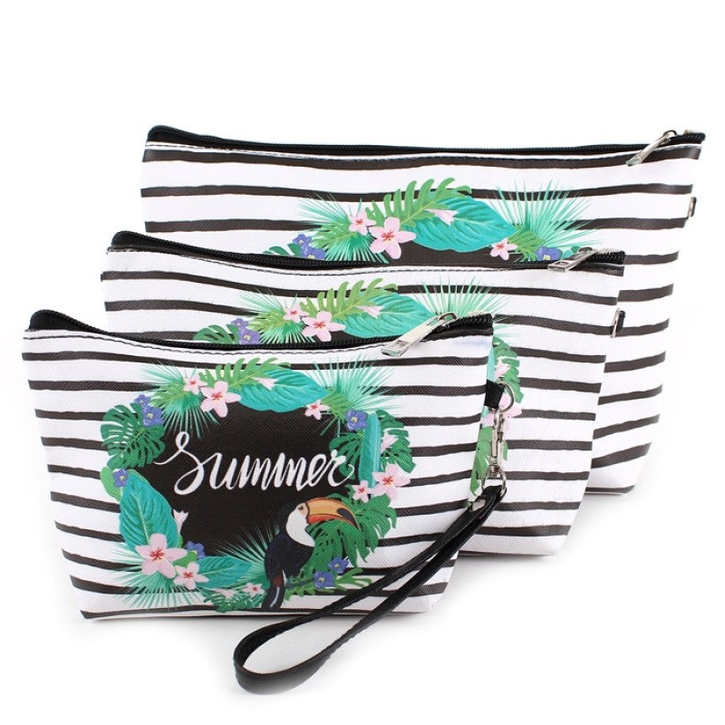 Summer Striped Cosmetic Bag Set - Gracie Roze