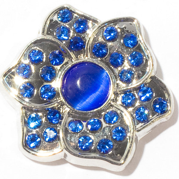 Blue Gem Petal Snap