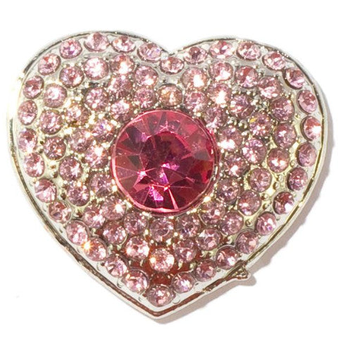 Heart Shaped Pink Snap - Gracie Roze