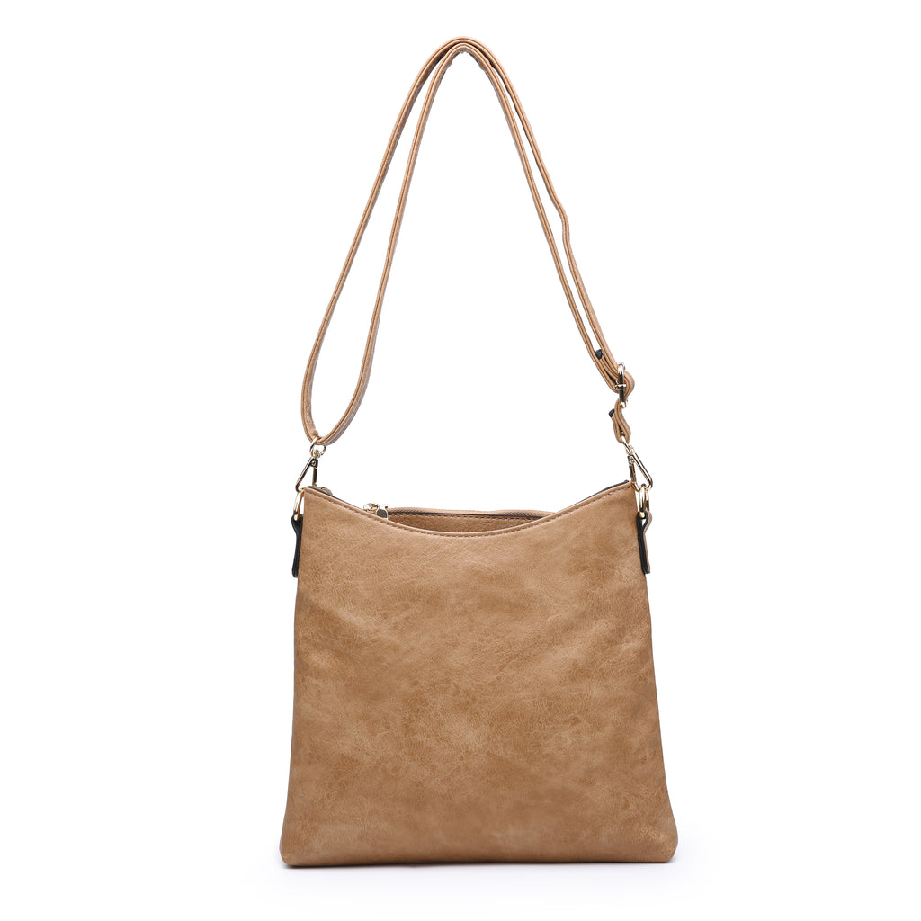 Jen & Co. Light Brown Crossbody - Gracie Roze