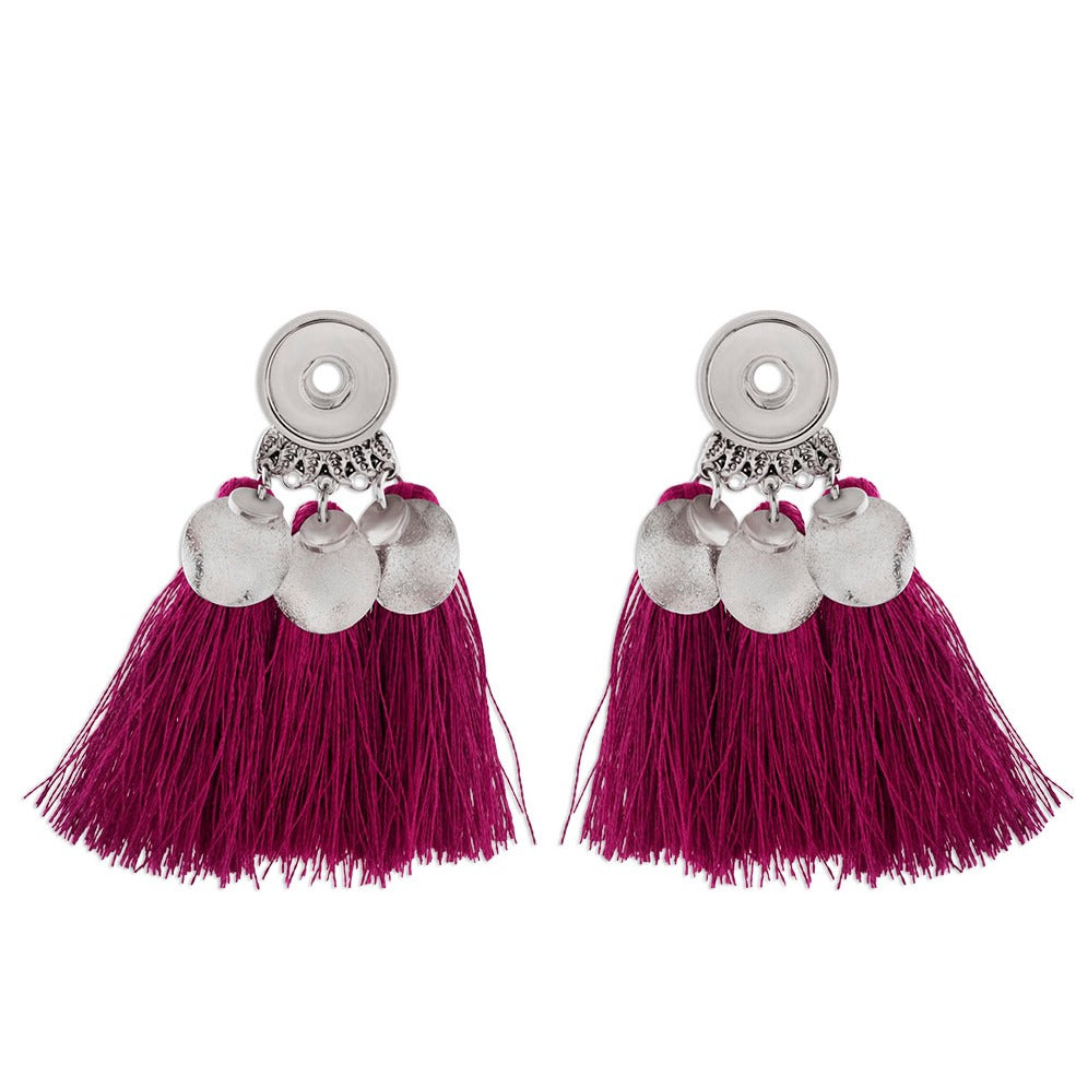 Purple Tassel Mini Earrings - Gracie Roze