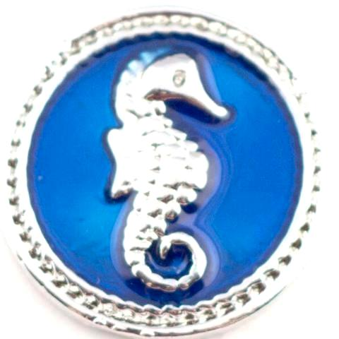 Blue Seahorse Snap - Gracie Roze Yourself Expression Snap Jewelry