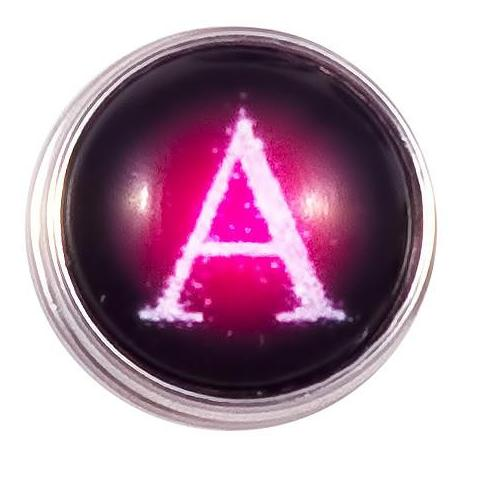 A-M Pink Letter Poppers for Snap Jewelry