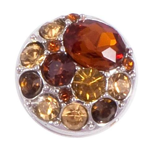 Amber Crystal Snap - Gracie Roze Yourself Expression Snap Jewelry