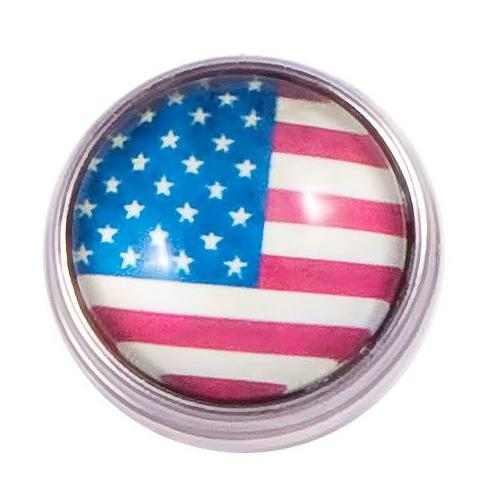 American Flag Popper for Snap Jewelry