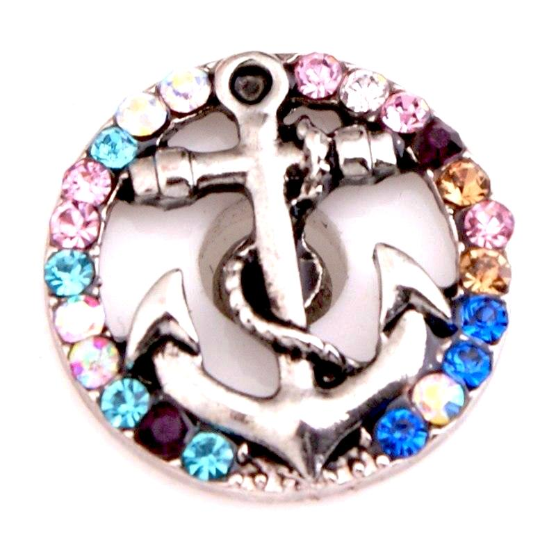 Anchor Jewel Snap - Gracie Roze Yourself Expression Snap Jewelry
