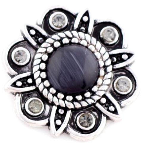 Art Deco Black Flower Snap