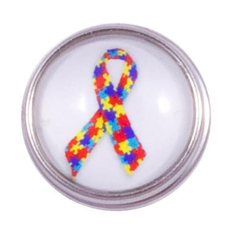 Autism Speaks Ribbon Snap - Gracie Roze Yourself Expression Snap Jewelry