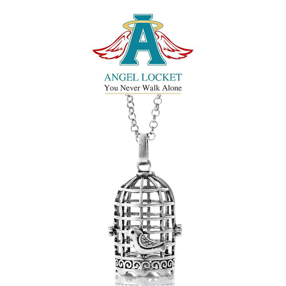 Bird Cage Angel Locket