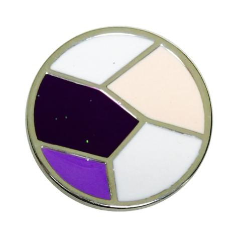Broken Stained Glass Coin for Coin Shels