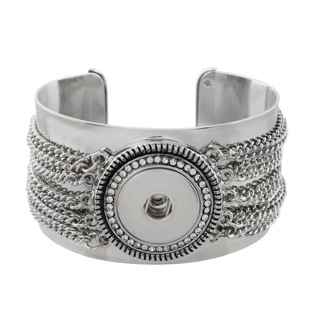 Chain Cuff Snap Bracelet - Gracie Roze Yourself Expression Snap Jewelry