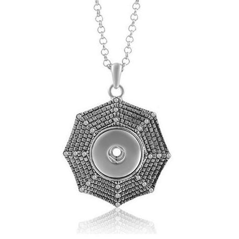 Crystal Cobweb Snap Necklace - Gracie Roze