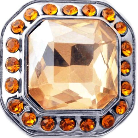 Glamorous Large Amber and Peach Crystal Popper