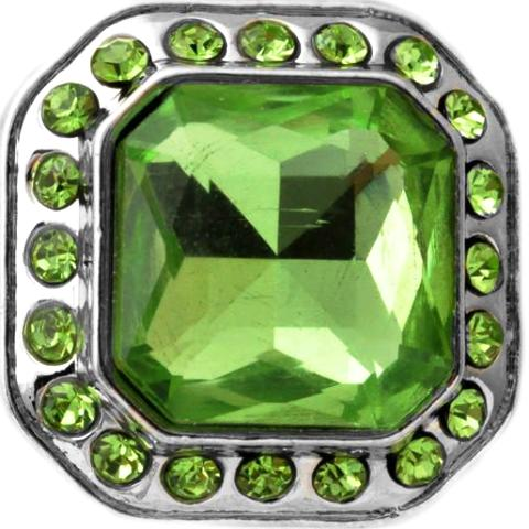 Glamorous Large Green Crystal Popper