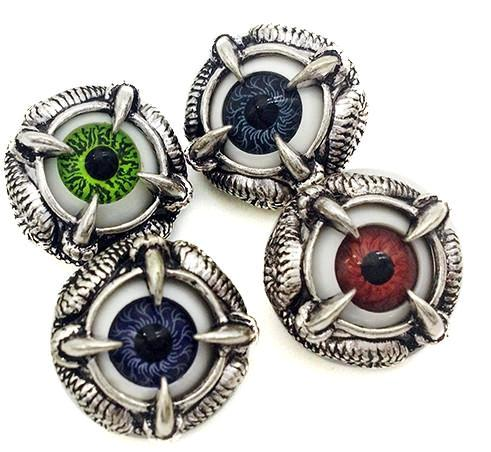 Scary Eyes Snaps - Gracie Roze Yourself Expression Snap Jewelry