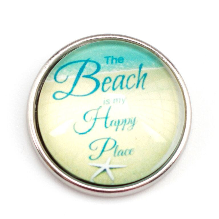 Beach is My Happy Place Popper for Snap Jewelry