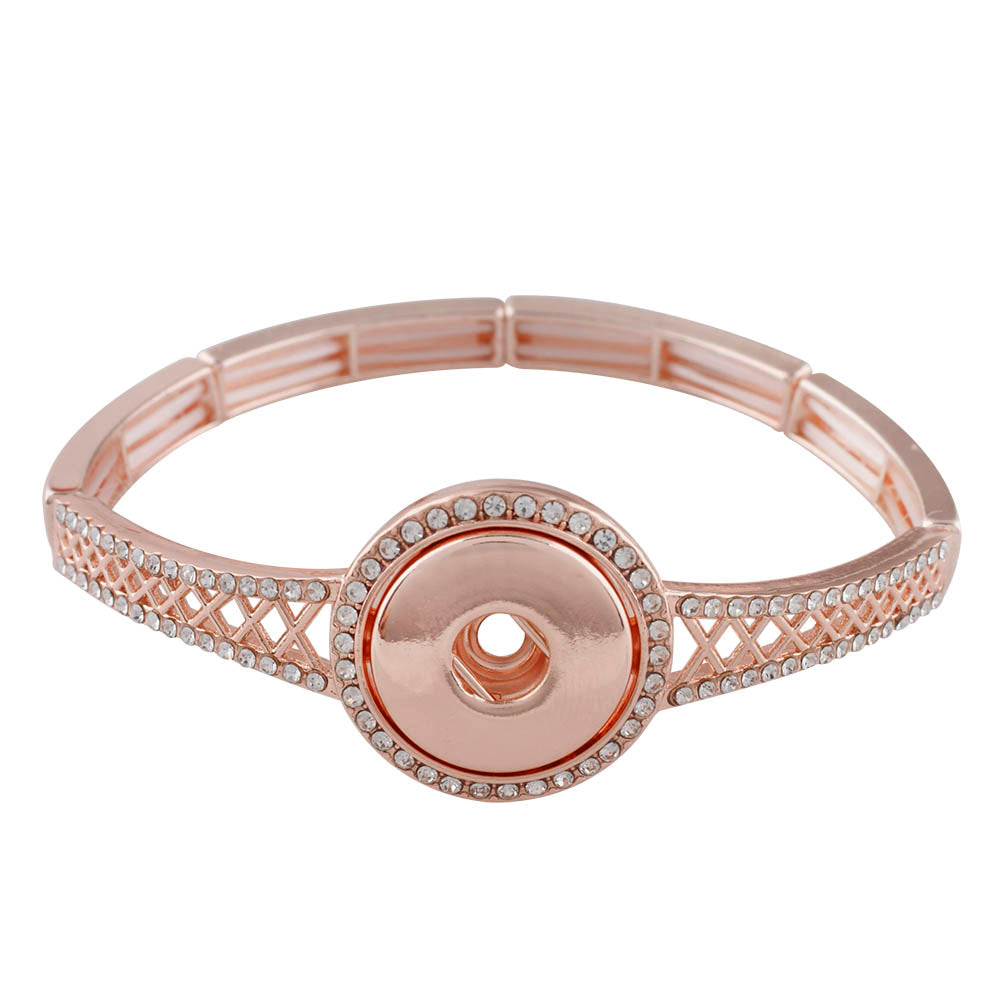 Elastic Thin Crystal Rose Gold Bracelet