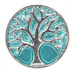 Aqua Family Tree Mini Snap - Gracie Roze Yourself Expression Snap Jewelry