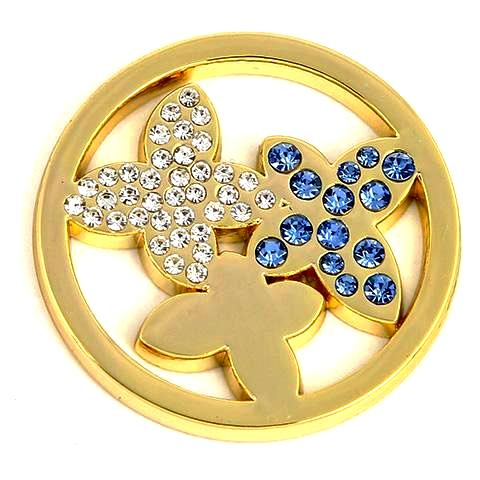 Blue Butterfly Gold Coin