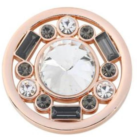 Gray Stone Rose Gold Coin