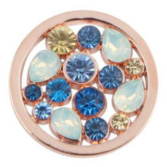 Cluster Blue Rose Gold Coin