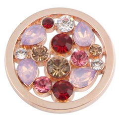 Cluster Pink Rose Gold Coin
