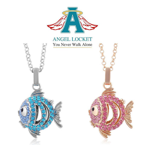 Crystal Fish Angel Locket