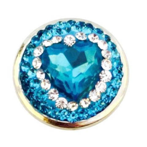 Blue Heart In Crystals Popper