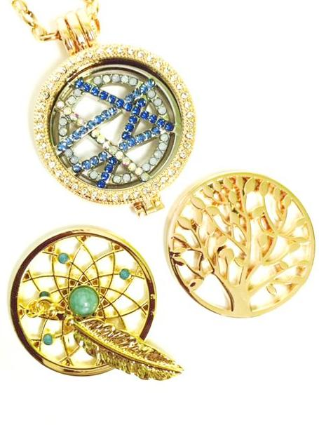 Blue Crossover, Tree, and Dreamcatcher Coin Collection :Choose Rose Gold, Silver, or Gold Shel