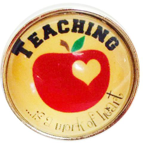 Teaching is a Work of Heart Popper for Snap Jewelry