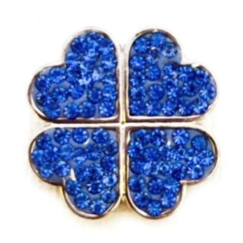 Blue Crystal Shamrock Clover Popper