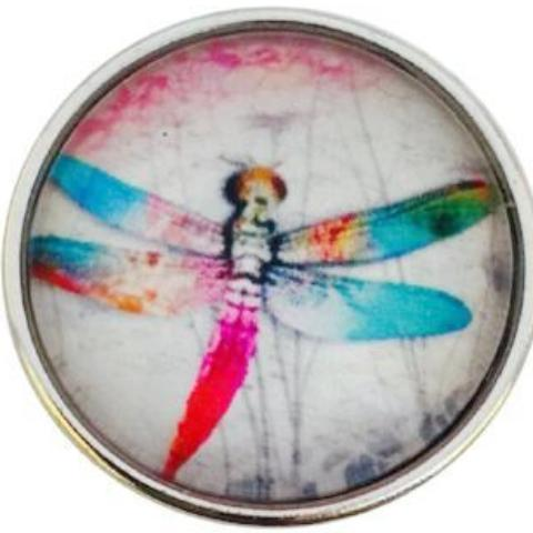 Colorful Dragonfly Popper for Snap Jewelry