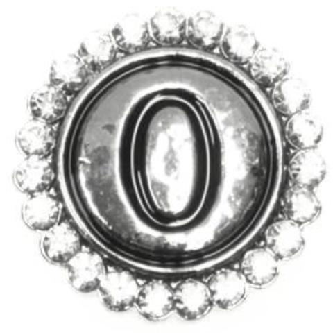 Crystal and Silver Numbers 0-9 Popper