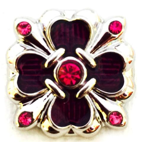Pink and Purple Crystal Clover Snap