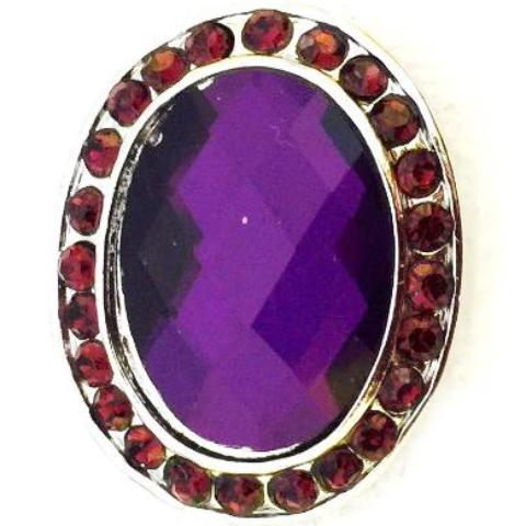Oval Purple Crystal Snap