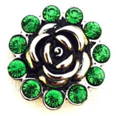 Lime Green Crystal Rose Snap