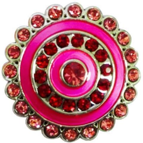 Pink and Red Wheel Snap - Gracie Roze Yourself Expression Snap Jewelry