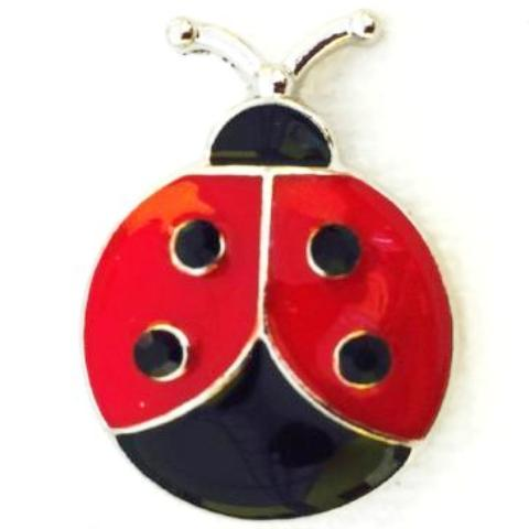 Metal Ladybug Snap - Gracie Roze Yourself Expression Snap Jewelry