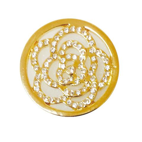 Gold Flower of Crystals Coin for Coin Shels