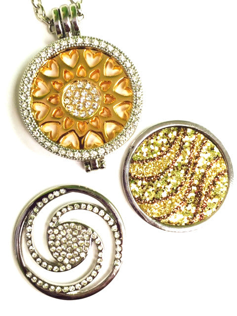 *Sun of Hearts, Crystal Swirl and Golden Sands Coin Collection: Choose Rose Gold, Silver, Gold Shel