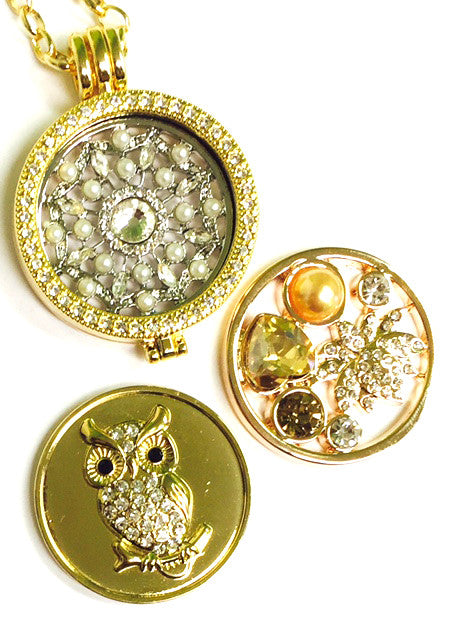 Pearls and Hearts,  Pearl Web, and Owl Coin Set - Gracie Roze