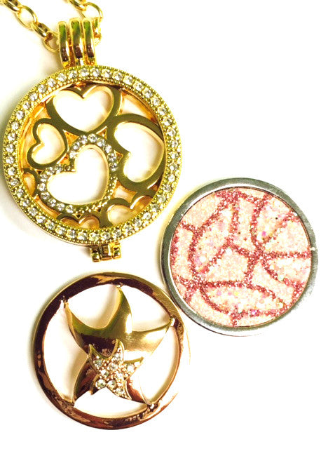 *Starfish, Pink Modern, and Hearts Coin Collection :Choose Rose Gold, Silver, or Gold Shel